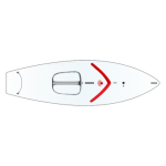 Sunfish Sail Boat, Red Coaming (Splash- Rail)